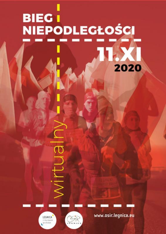 Zapisz się ipobiegnij wwirtualnym Legnickim Biegu Niepodległości