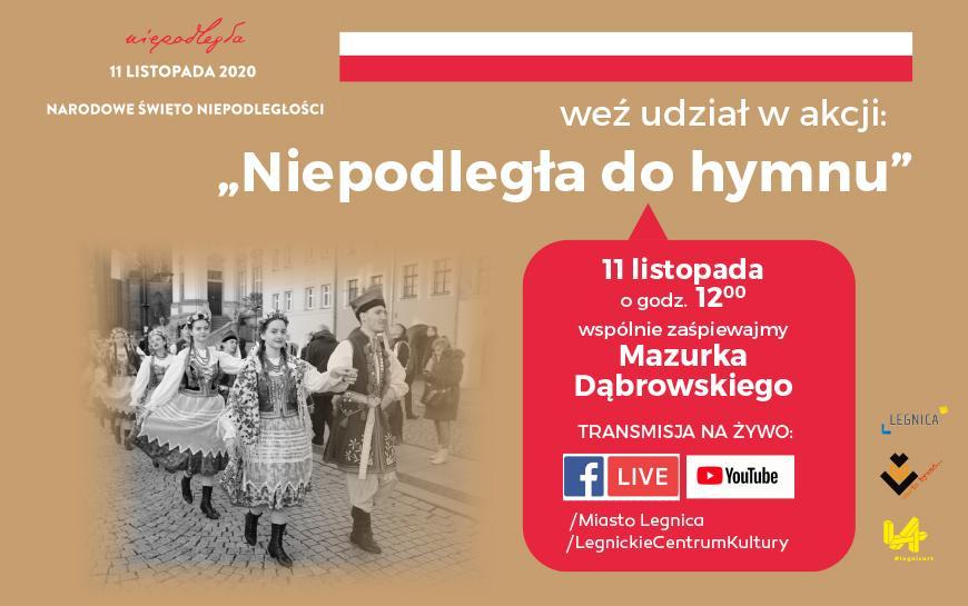 Zaproszenie na wielkie śpiewanie Mazurka Dąbrowskiego